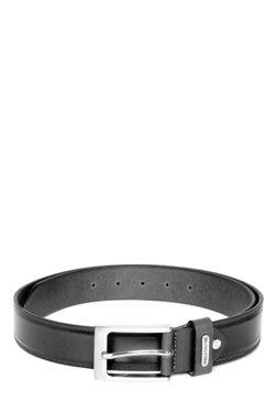 Red Tape Black Solid Leather Belt - Mp000000001710442