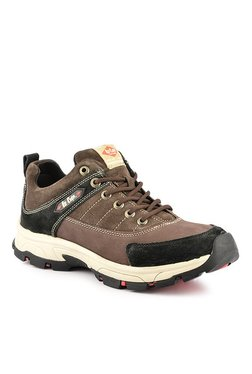 Lee Cooper Cafe Brown   Black Outdoor Shoes df1fb5836