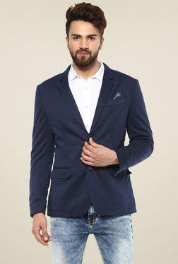 9b4e716e9af Mufti Navy Slim Fit Solid Blazer