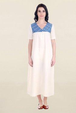 ANS Off White Midi Dress
