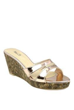 Inc.5 Rose Gold Wedge Heeled Sandals