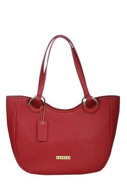 Caprese Tory Rouge Red Solid Shoulder Bag