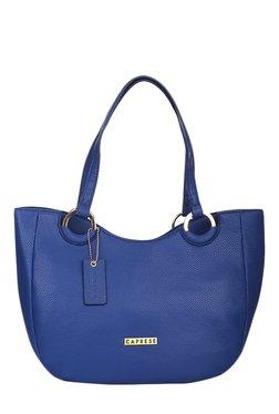 Caprese Tory Bright Blue Solid Shoulder Bag