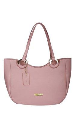 Caprese Tory Dusty Pink Solid Shoulder Bag