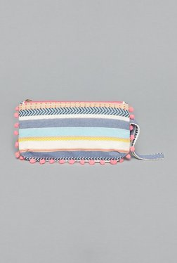 Westside Multicolored Pom-Pom Pouch