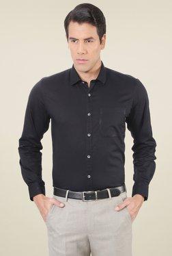 Peter England Black Full Sleeves Slim Fit Shirt