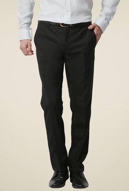 Van Heusen Black Flat Front Trousers