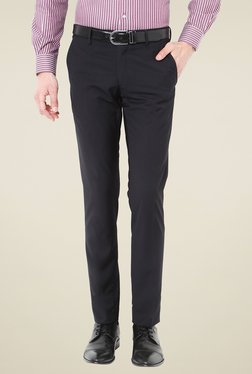 Van Heusen Black Ultra Slim Fit Flat Front Trousers
