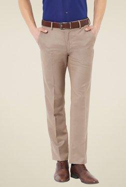 Van Heusen Brown Slim Fit Trousers