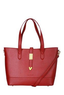 Caprese Nadia Garnet Red Solid Shoulder Bag
