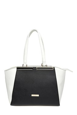 Addons Black & White Color Block Shoulder Bag