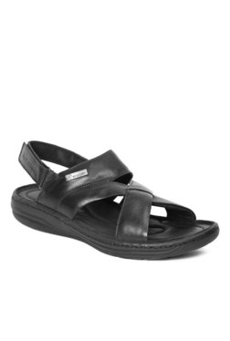 Red Chief Black Back Strap Sandals - Mp000000001735487