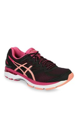 Asics GT-2000 4 Black & Pink Running Shoes