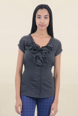Pepe Jeans Grey Cotton Top