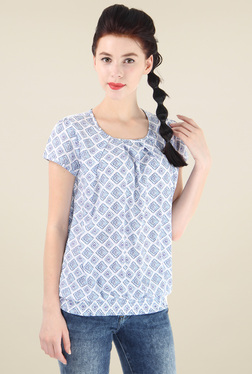 Pepe Jeans White Printed Cotton Top