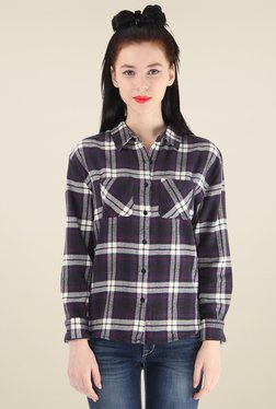 Pepe Jeans Black Full Sleeves Cotton Shirt