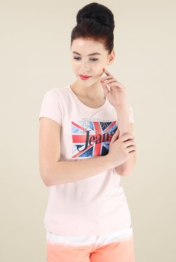 Pepe Jeans Baby Pink Slim Fit T-Shirt