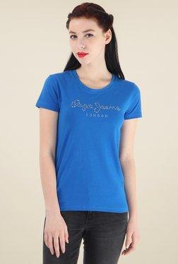 Pepe Jeans Blue Slim Fit Cotton T-Shirt
