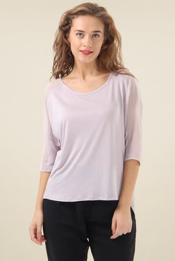 Pepe Jeans Pink Round Neck Cotton Top