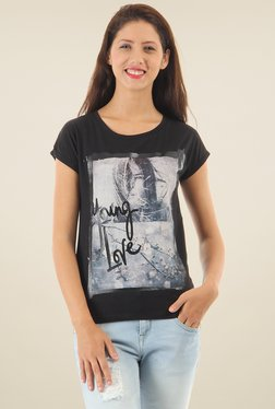 Pepe Jeans Black Round Neck Comfort Fit T-Shirt