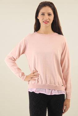 Pepe Jeans Pink Round Neck Regular Fit T-Shirt