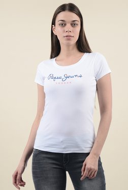 Pepe Jeans White Round Neck T-Shirt