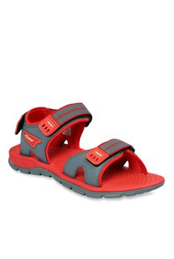 Furo By Red Chief Grey & Red Floater Sandal