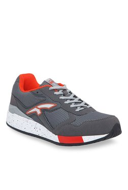 Furo By Red Chief Grey & Orange Training Shoes