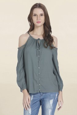 Only Green Round Neck Shirt