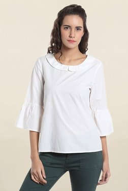 Vero Moda White Peter Pan Collar Top