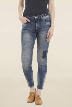 Only Blue Lightly Washed Slim Fit Low Rise Jeans