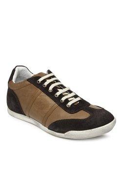 Franco Leone Taupe & Dark Brown Sneakers