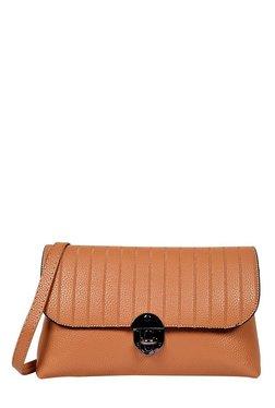 Lino Perros Brown Striped Sling Bag