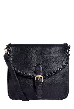 Lino Perros Black Solid Sling Bag - Mp000000001754200