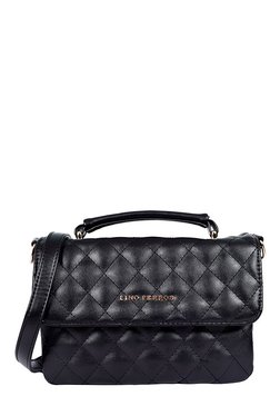Lino Perros Black Quilted Sling Bag