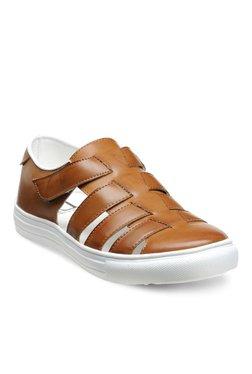 Franco Leone Tan Fisherman Sandals