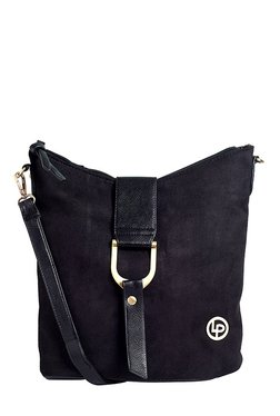 Lino Perros Black Solid Sling Bag - Mp000000001754242