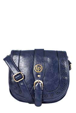 Lino Perros Navy Cut Work Saddle Sling Bag