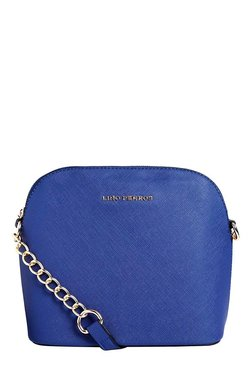 Lino Perros Blue Solid Sling Bag - Mp000000001754313