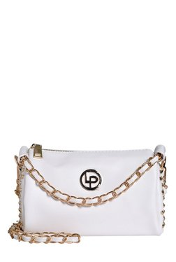 Lino Perros White Riveted Sling Bag