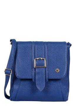 Lino Perros Blue Panelled Sling Bag