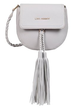 Lino Perros Grey Tassel Saddle Sling Bag