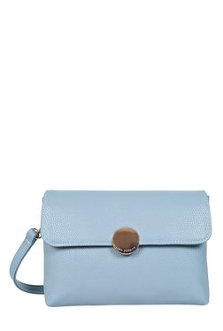 Lino Perros Blue Solid Sling Bag - Mp000000001754468