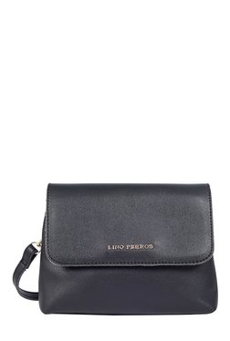 Lino Perros Black Solid Sling Bag