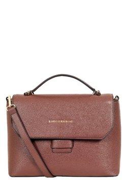 Lino Perros Brown Solid Satchel Bag