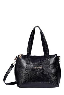 Lino Perros Black Solid Shoulder Bag