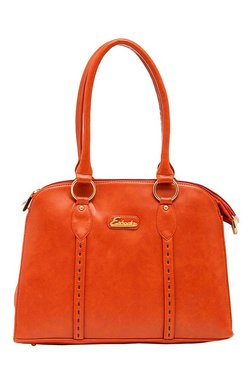 Esbeda Synthetic Napa Tan Paneled Shoulder Bag