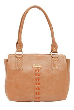 Esbeda Synthetic Napa Beige Stitched Shoulder Bag