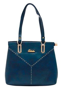 Esbeda Synthetic Napa Teal Blue Stitched Shoulder Bag - Mp000000001754662