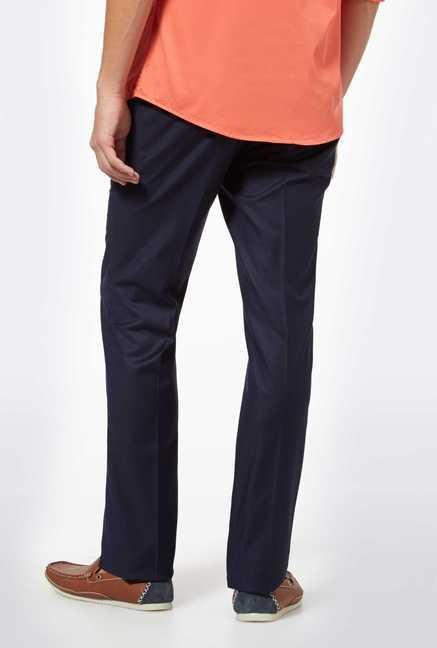 Easies Navy Casual Trousers